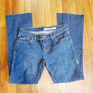 DKNY Jeans Raw Hem Slightly Flared Jeans Women's S